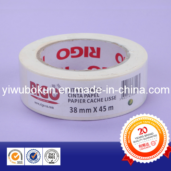 Hot Products White Masking Paper Tape with Rubber Base and Easy-Tear