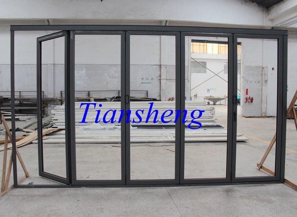 Customzied 70 Series Double Glazing Aluminum Exterior Folding Doors
