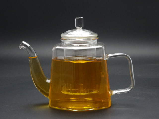 500ml Singlge Wall Hand Made Borosilicage Glass Teapot with Glass Lid and Infuser