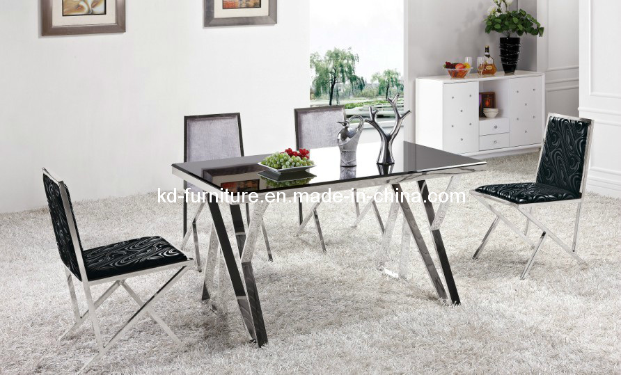 China Modern Stainless Steel Dining Set Dining Room Table 311E Photos Amp