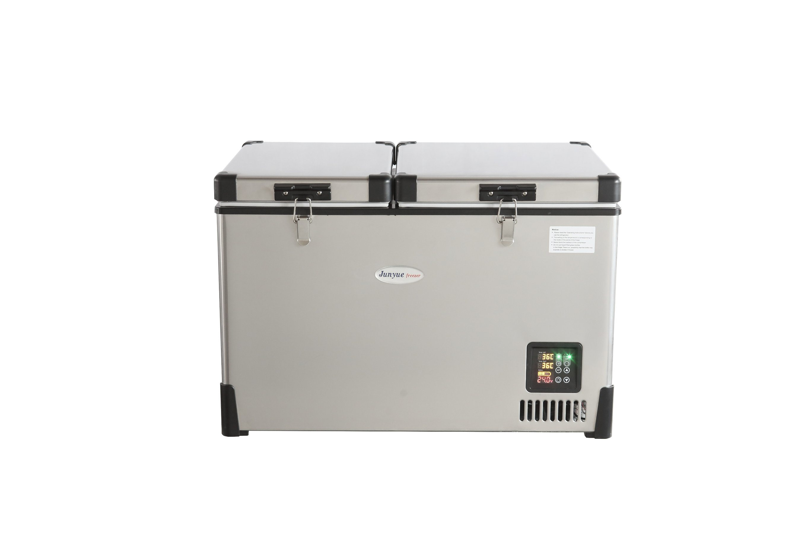 Scd-50L 12/24V DC Stainless Steel Doubletemperature Chest Freezer Curved Bottom