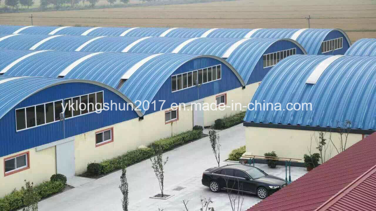 Frameless K Shape Arch Roof Steel Building Machine