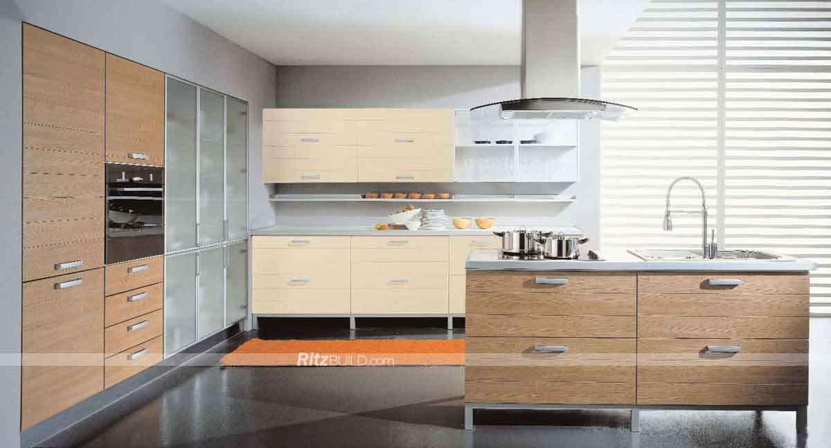 Home Furniture PVC Membrane MDF Board Kitchen Cabinet Design PVC Kitchen  Kitchen