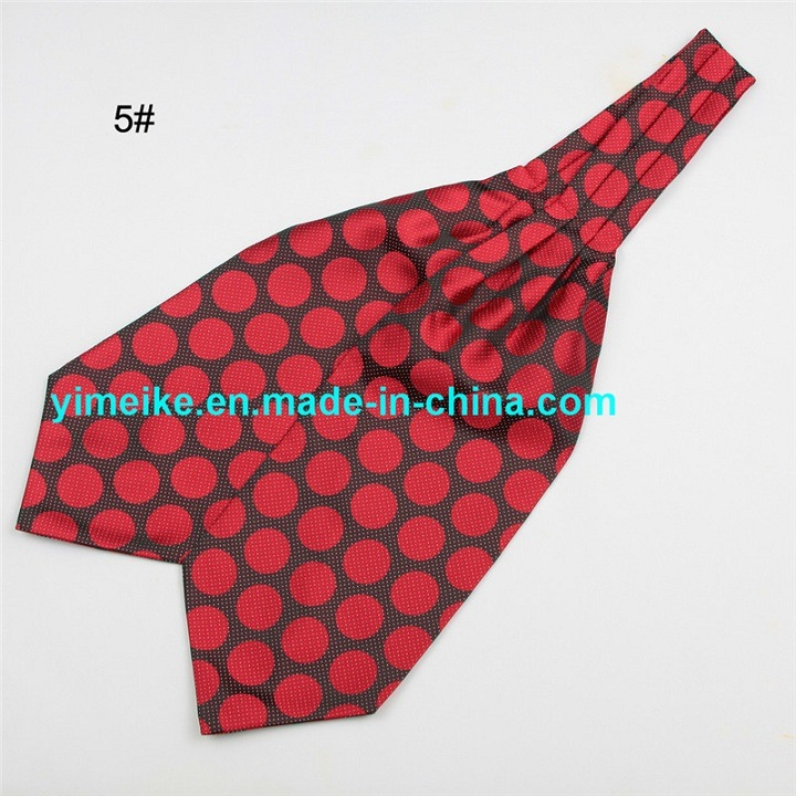 New Arrival Polyester Jacquard Multi Patterns Drawing Necktie Mens Ascot Tie Cravat