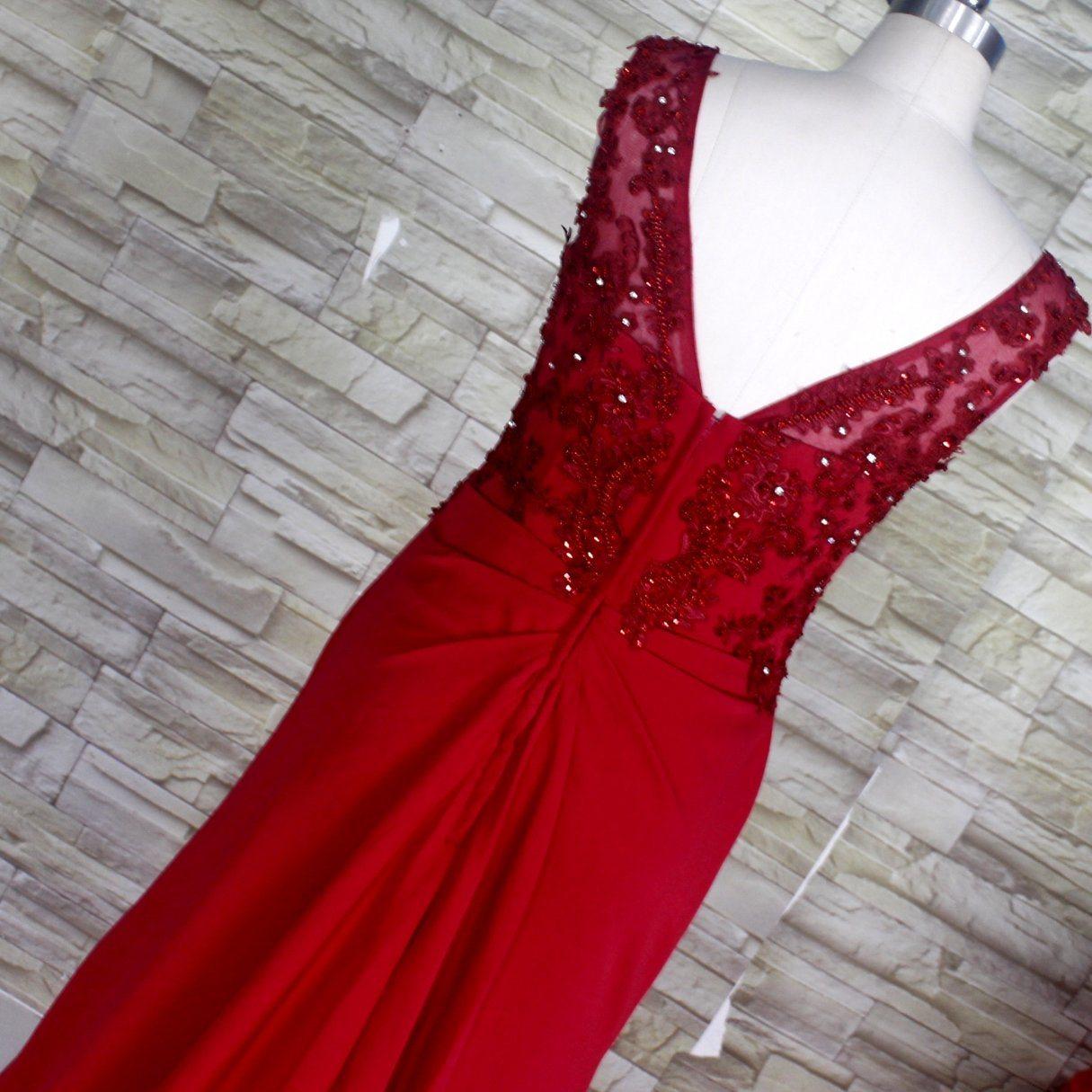 Wine Evening Dress Rhinestones Stretch Jesery Spandex Bridal Party Prom Gown E52718