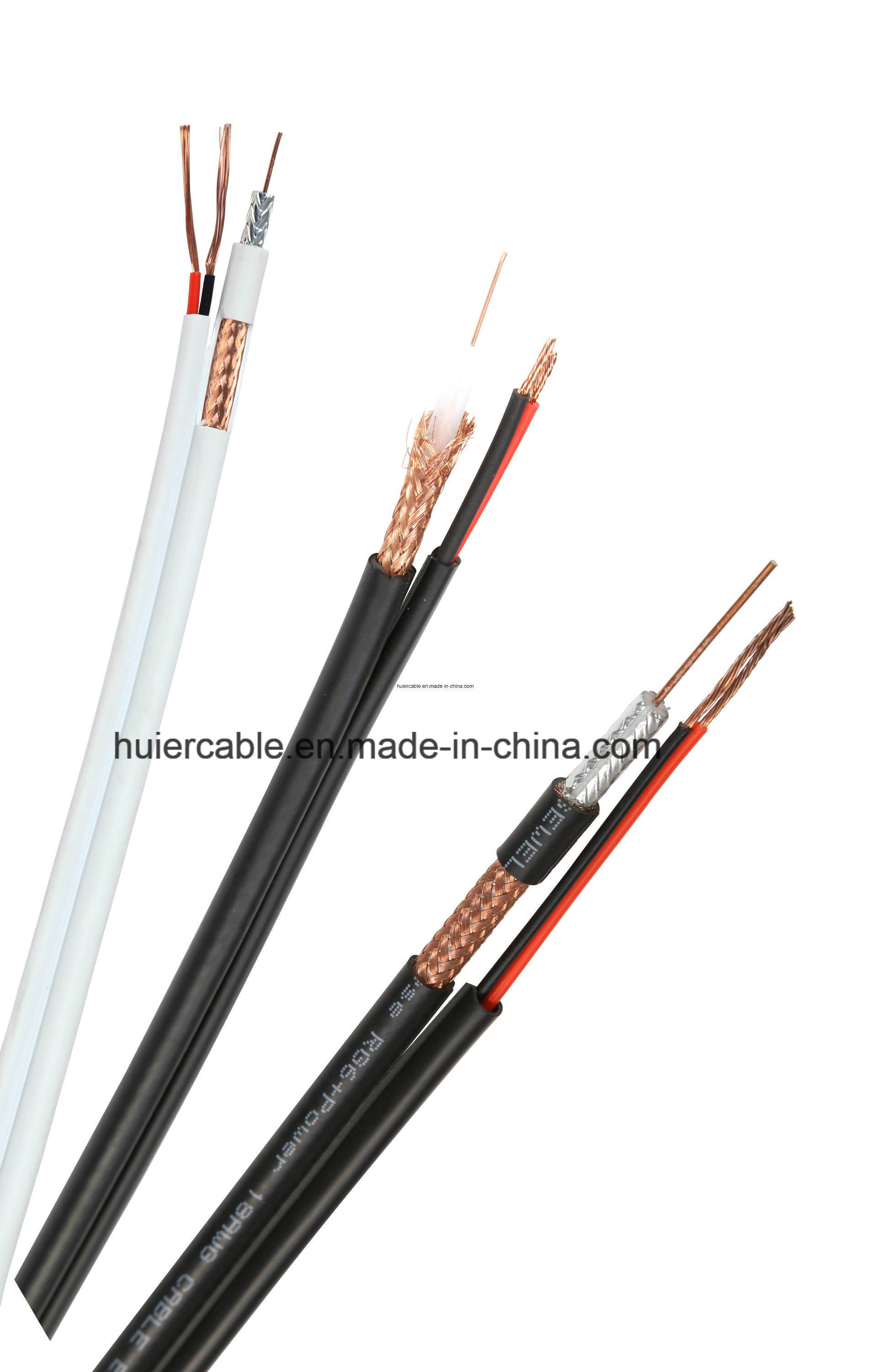 Camera RG6 RG59 CCTV Cable with Power Wires