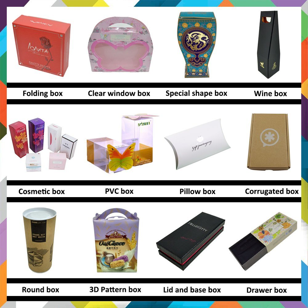 Luxury Looking Hot Stamp Surface Cosmetic Box for Mask Package