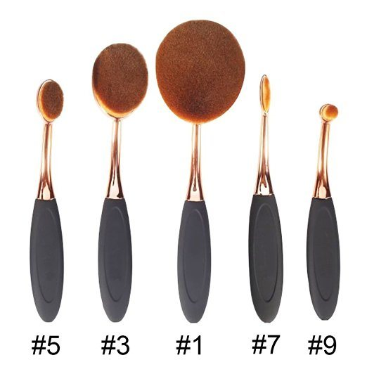High Quality Synthetic Hair Acrylic Handle Cosmetic Makeup Foundation Brush