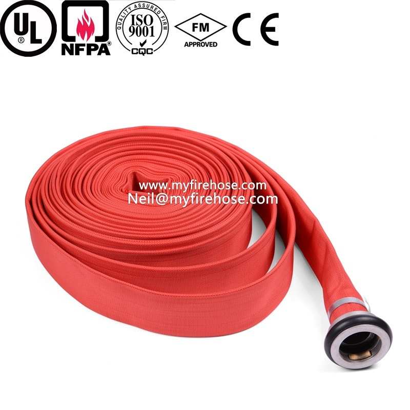 8 Inch Canvas Fire Hydrant Hose Material Is PVC