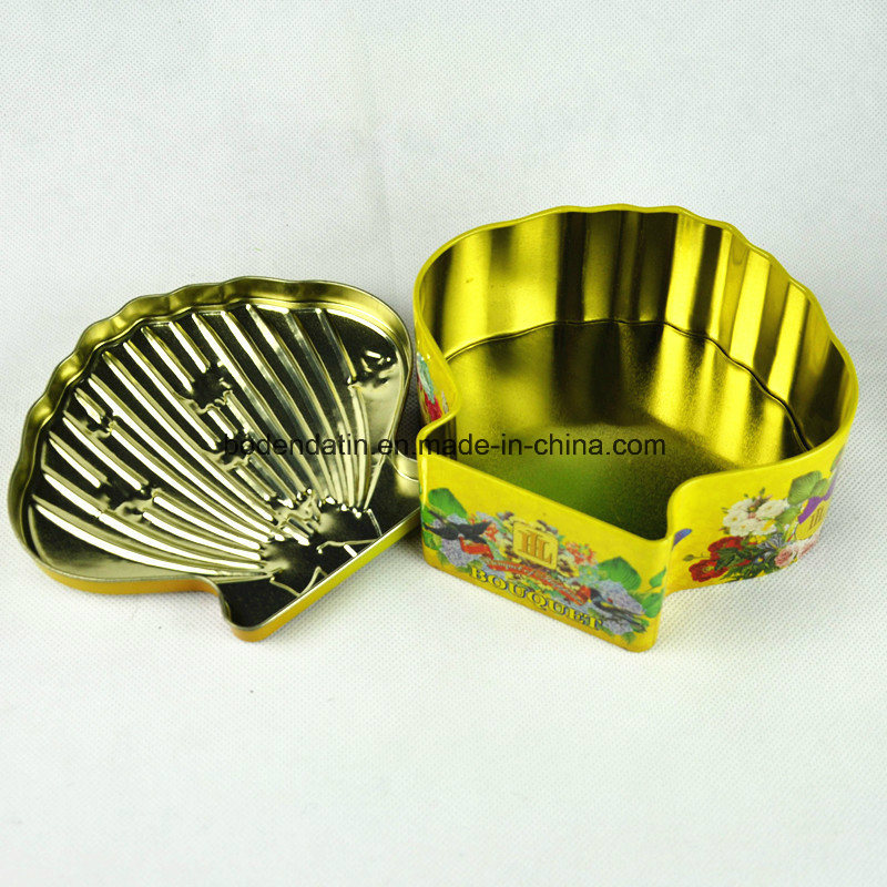 Custom Shell Shape Tin Can for Candy, Candy Tin Box