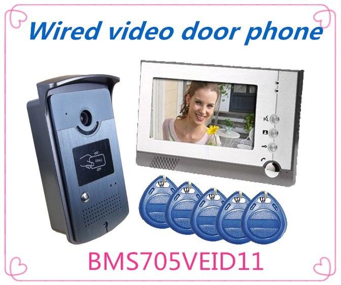 Wired Intercom Video Door Phone Doorbell Home Security System
