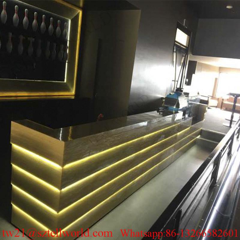 Fan Boat Shape Home Custom Made Newly Design Counter Bar Furniture Red Ship Bar Counter