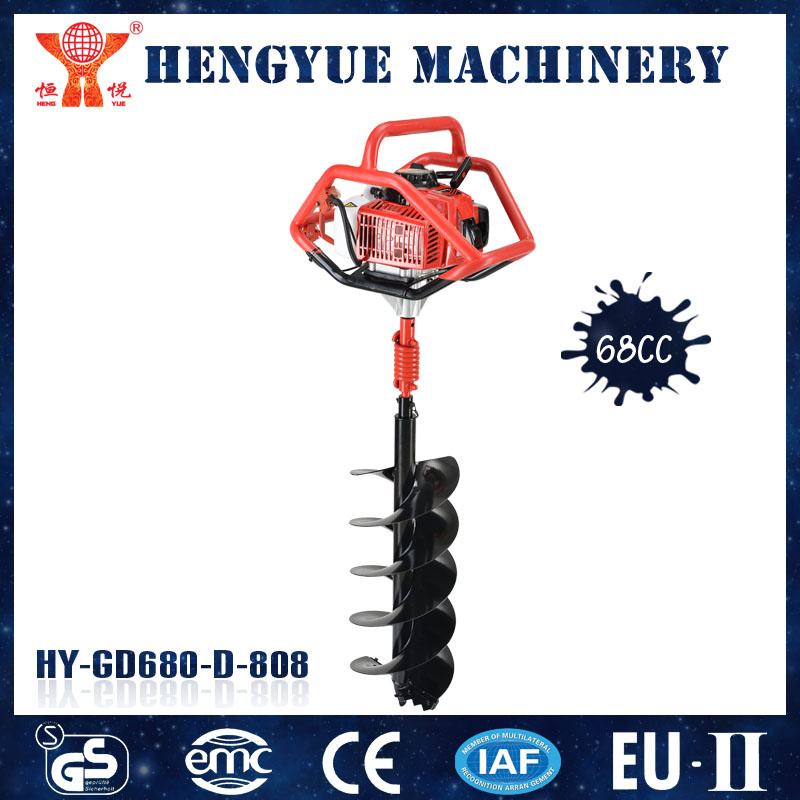 Hy-Gd680-D-808 68cc Earth Driller Machine of Garden Tool