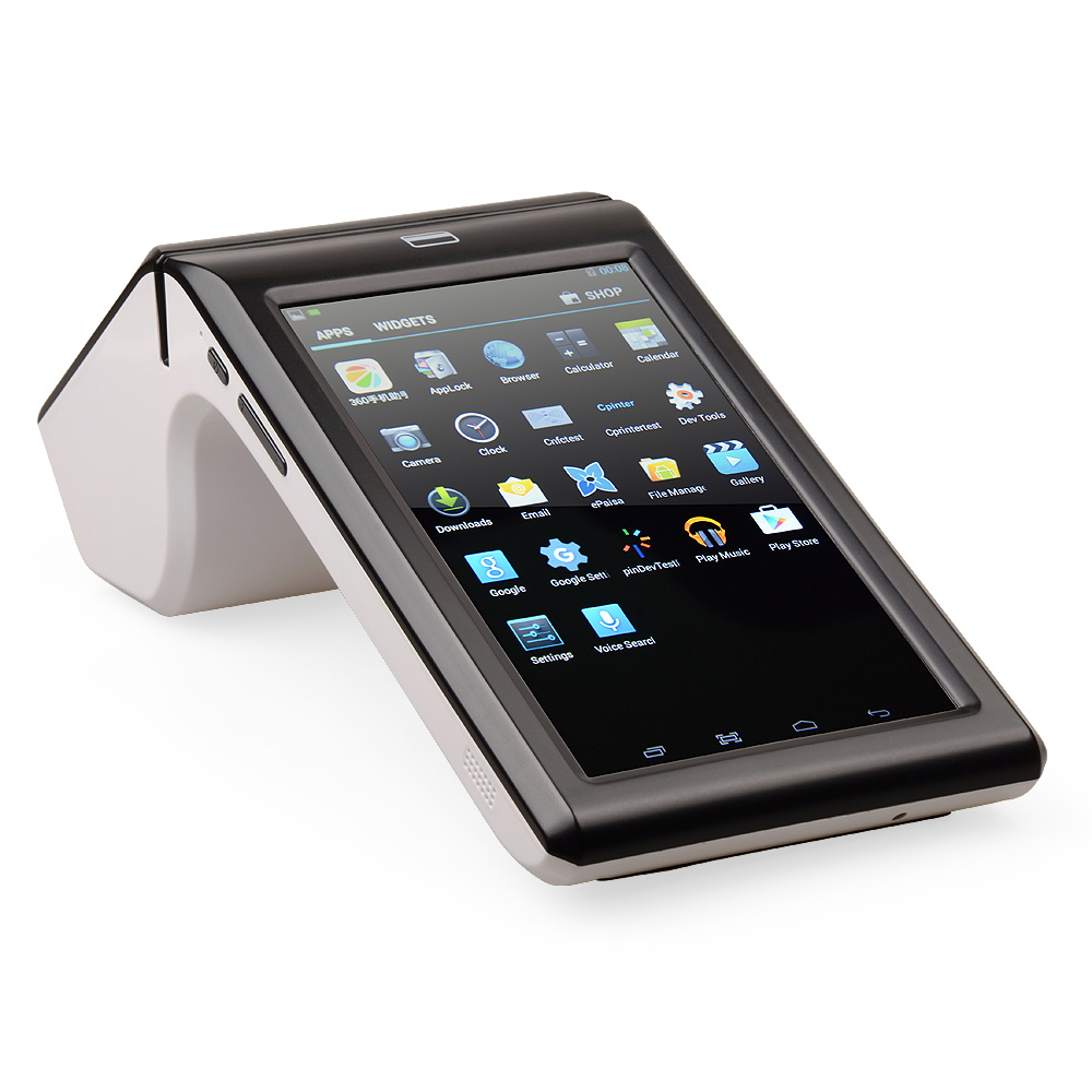 Gp7002 Touch Screen Android 4.2 Barcode Scanner with Display 80mm Receipt Printer POS System