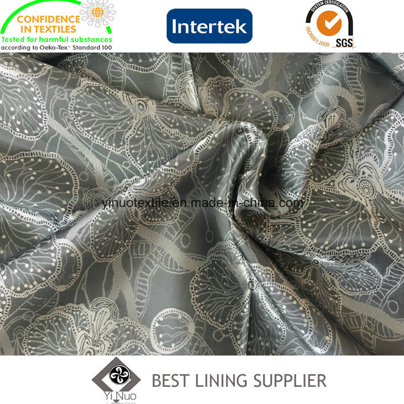 New Men′s Suit T/R Jacquard Lining Fabric Manufacturer