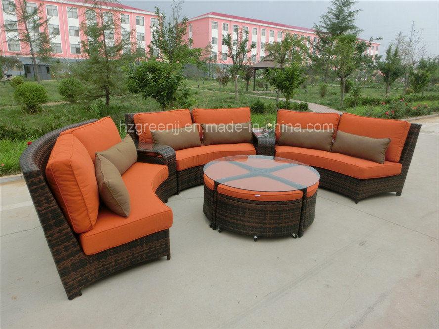 Luxury Curved Wicker Sofa Set