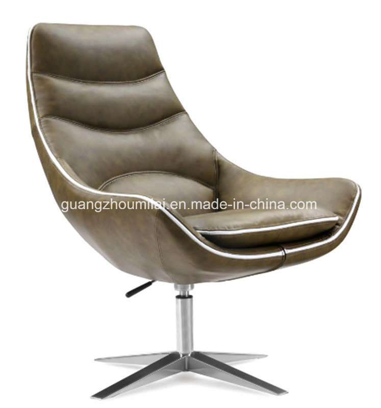Comfortable High Quality Leather Office Chair with Steel Frame Leg
