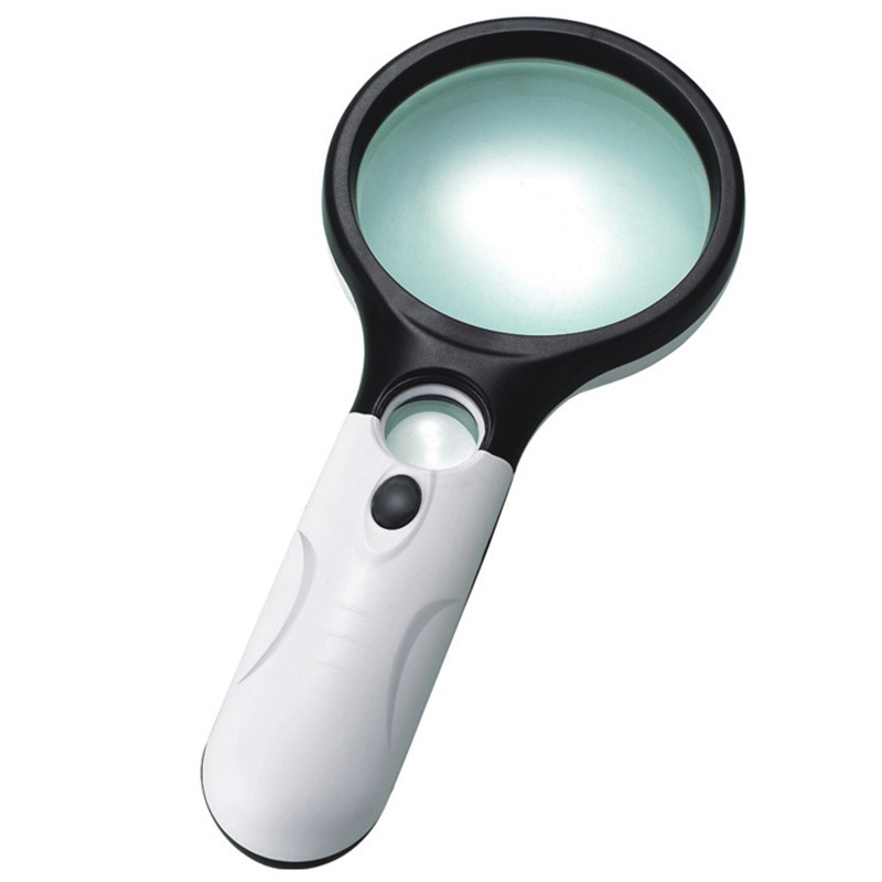Promotion Gift 3 LED Lamp Handheld 3X and 45X Magnifier