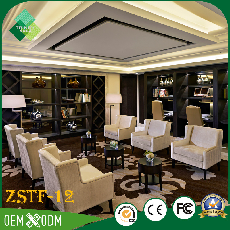 India Style 5 Star Luxury Hotel Bedroom Furniture Set (ZSTF-12)