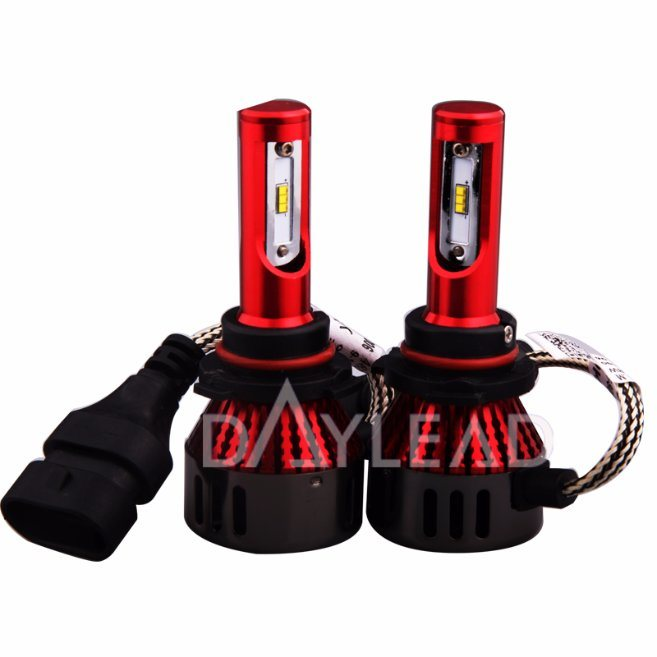 New Design Red Housing Imported High Power Chips 48W 9005 Mini LED Head Lamp 6000k