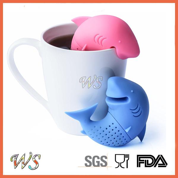 Ws-If056s Food Grade Silicone Dophin Tea Infuser Set Leaf Strainer for Mug Cup, Tea Pot