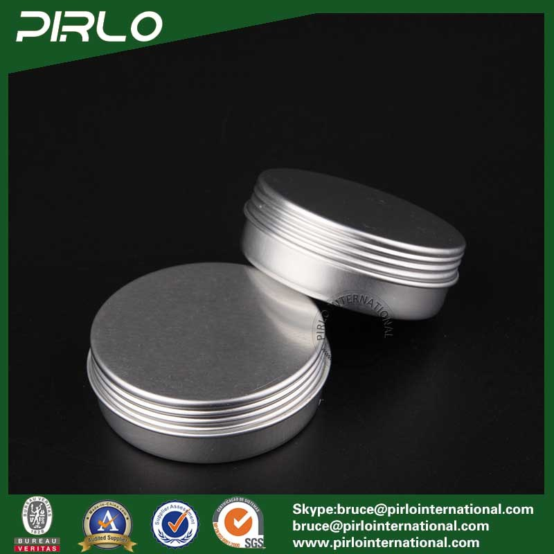 25g Silver Aluminum Tin Skin Care Cream/Lip Balm/Hair Wax Packing Aluminum Jar with Screw Lid