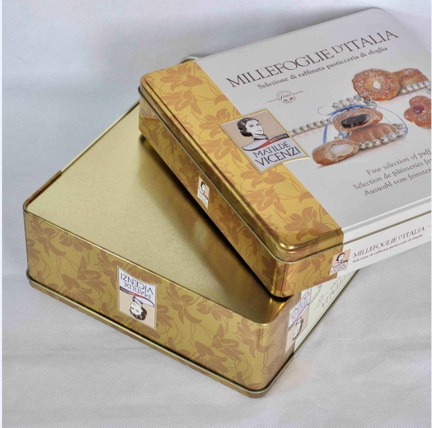 Big Square Metal Cookie Tin Gift Box