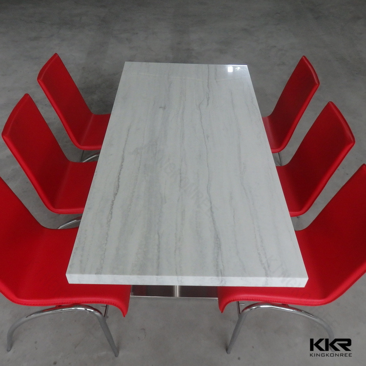 Shenzhen Acrylic Solid Surface Restaurant Tables for Decoration