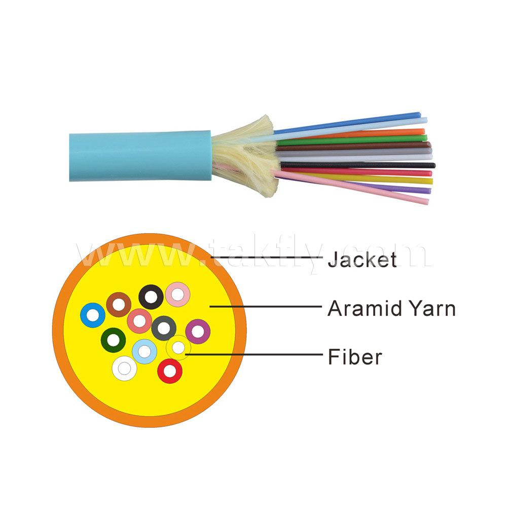 12 Core Distribution Loose Tube Optical Fiber Cable