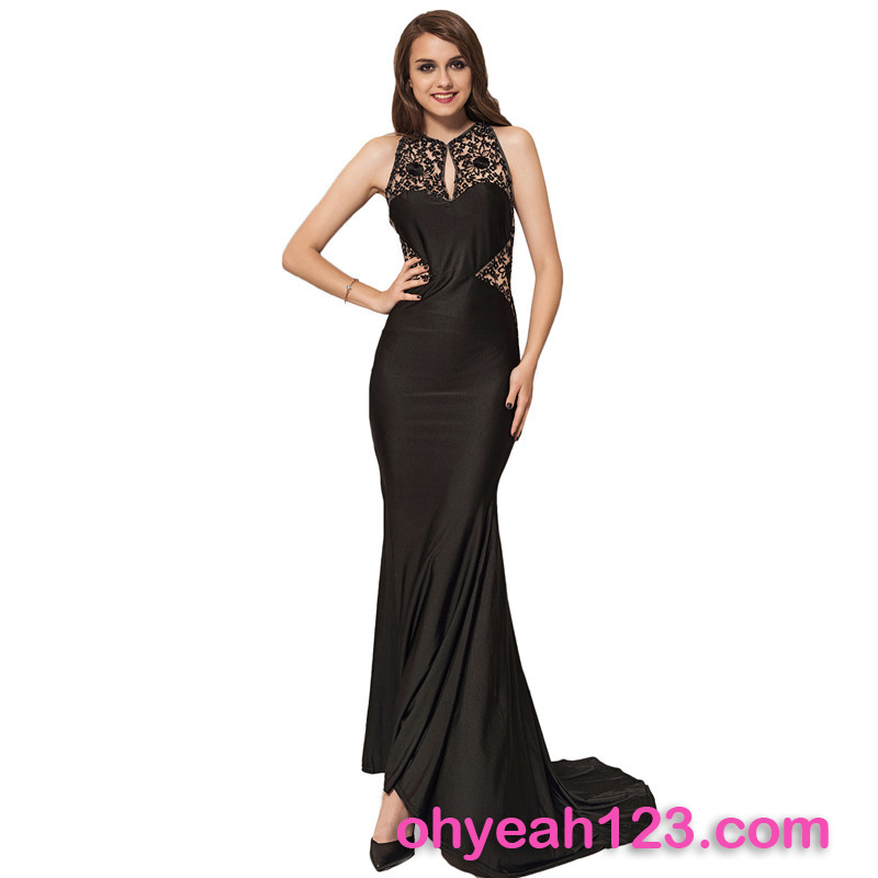 Best Selling Sleeveless Evening Dress for Fat Women