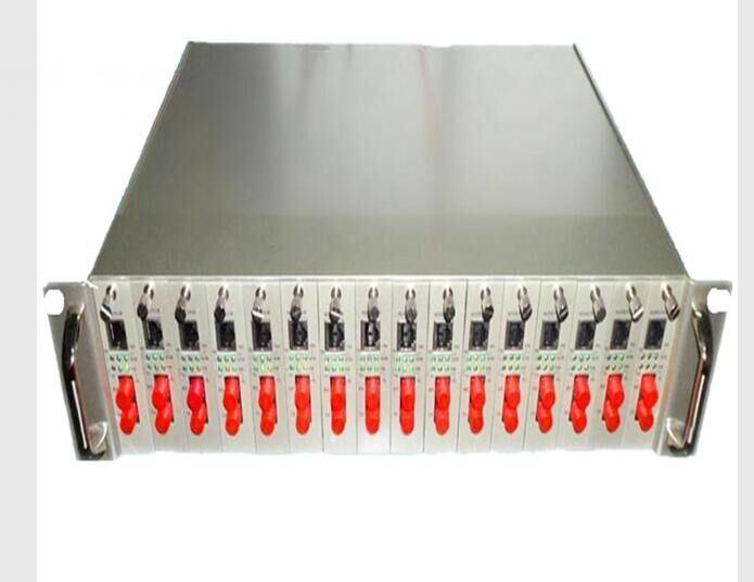 2u 16 Slot Rack Chassis 1000m Unmanaged Fiber Media Converter