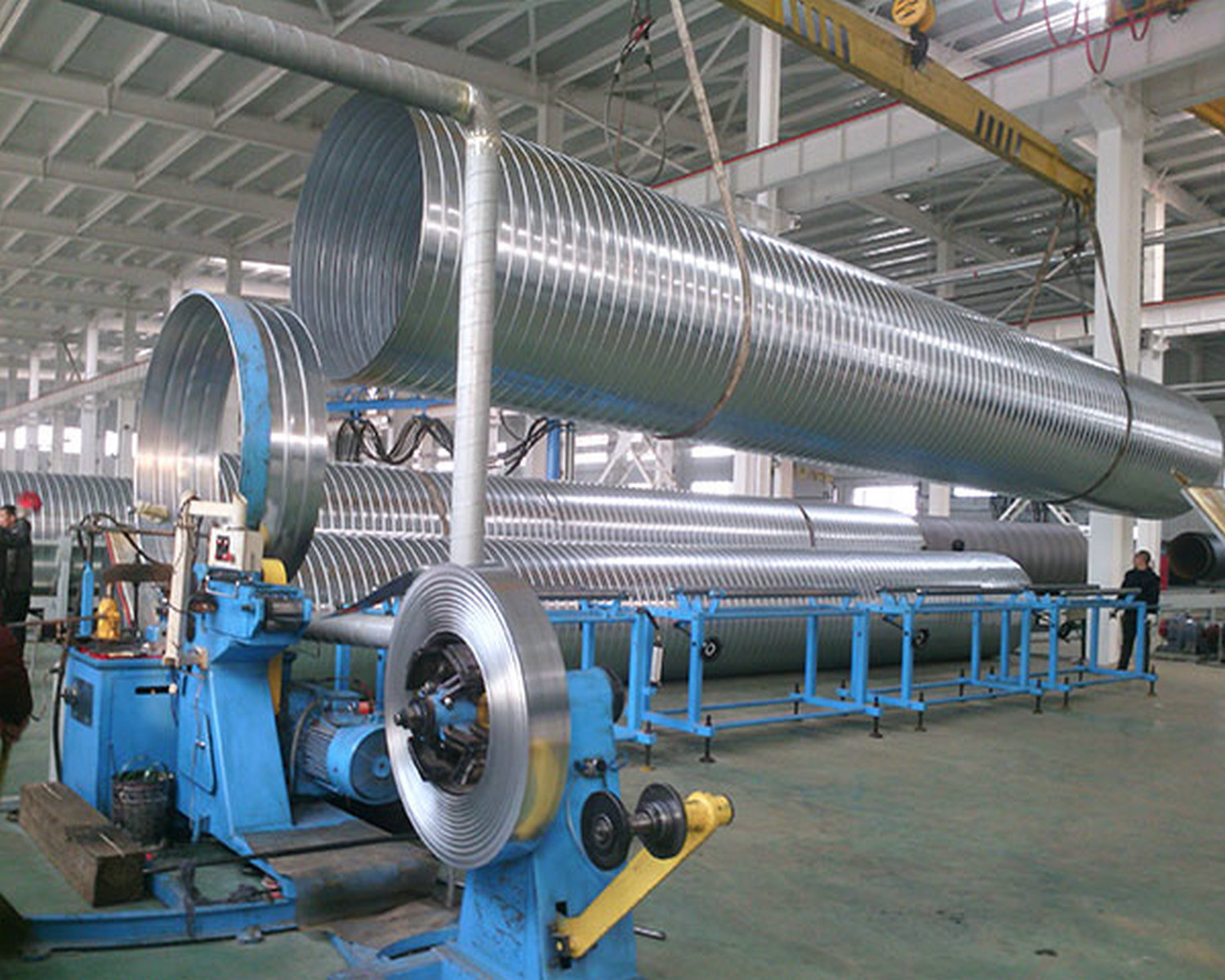 Spiral Duct Forming Machine with Mould Head Forming