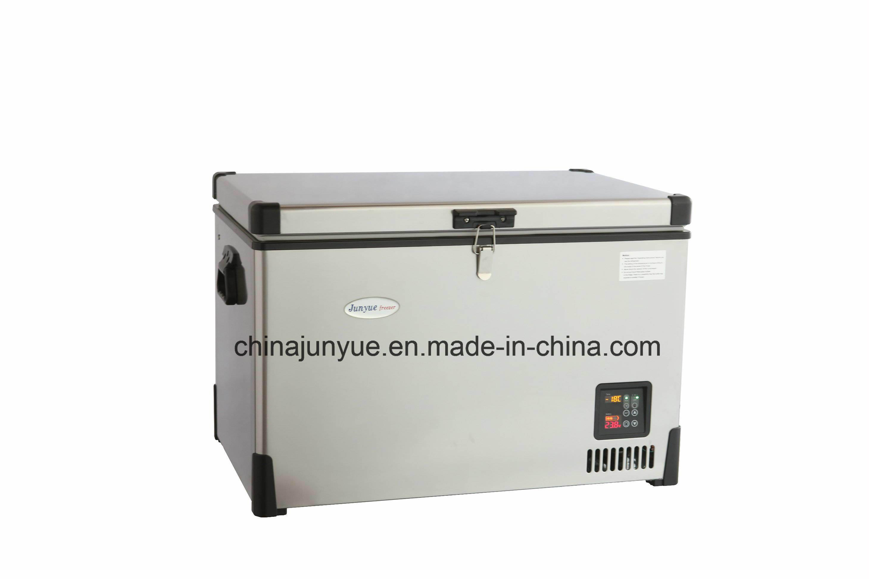 12V 24V DC Container Freezer Solar Refrigerator Fridge 12V DC Stainless Steel Freezer Deep Freezer Refrigerator Bd/Bc-92L
