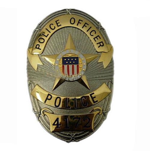 Customized Souvenir Engraved High Quality Hard Enamel Police Badge