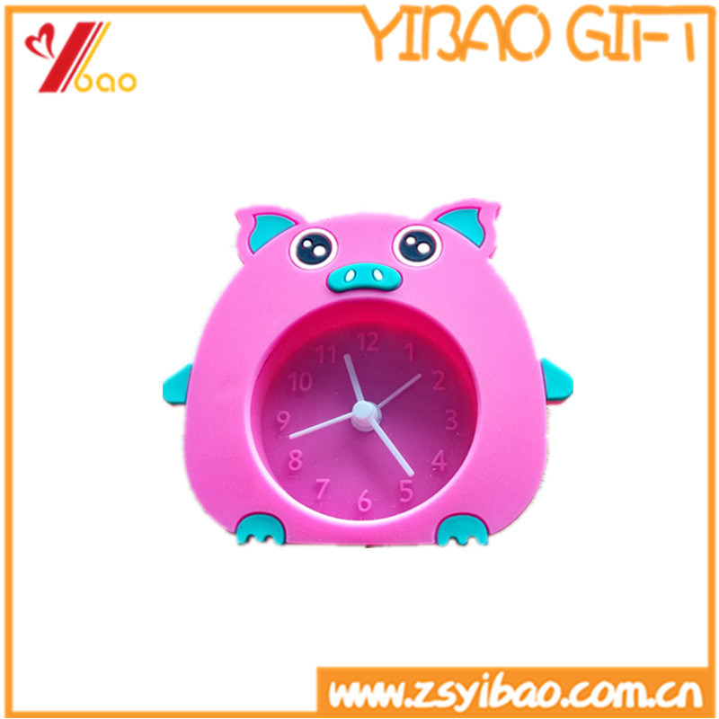 2017customized Colorful Lovely Silicone Clock