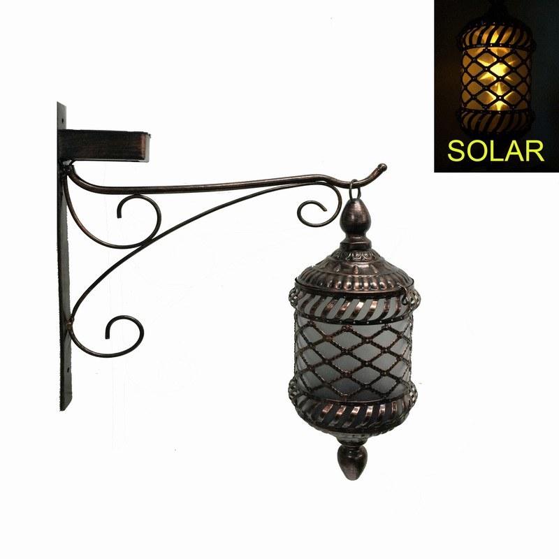 Antique Metal Garden Decoration Solar Lighted Lantern Craft