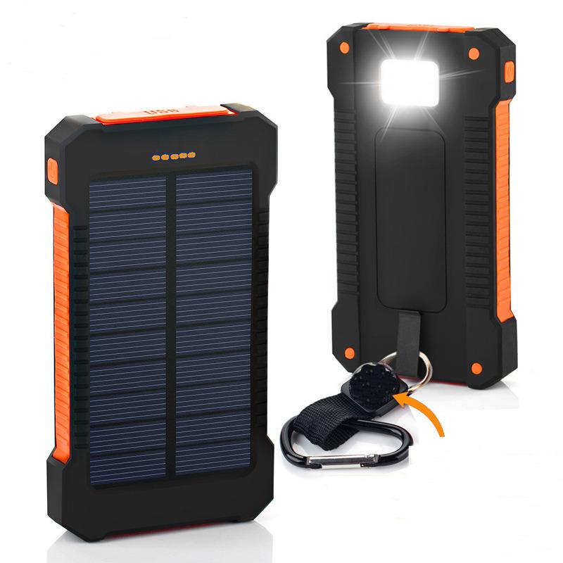 Portable Waterproof Solar Power Bank 6000mAh Rechargeable Battery