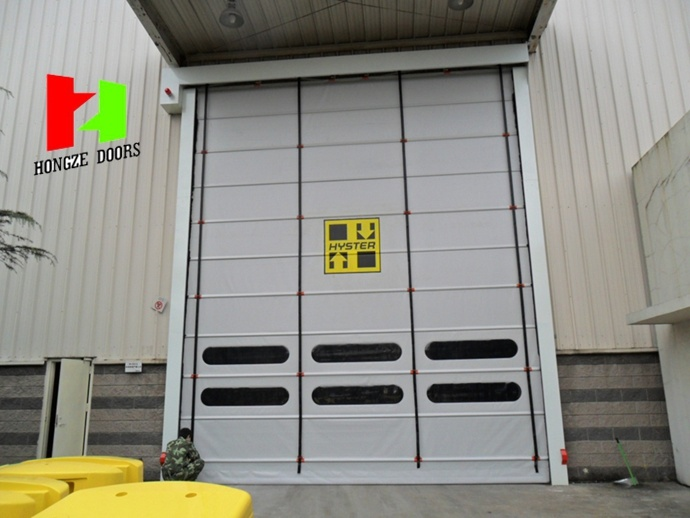 High Speed PVC Roller Shutter Doors /Rapid Stacking Doors with Wind-Resistant (Hz-021)