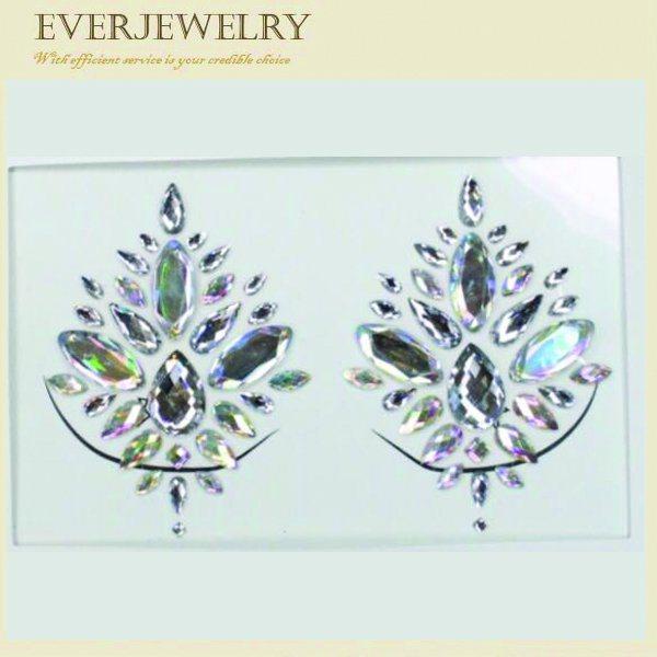 Hot Sell fashion Rhinestone Skin Safe Jewelry Tottoo Eyes Crystal Sticker