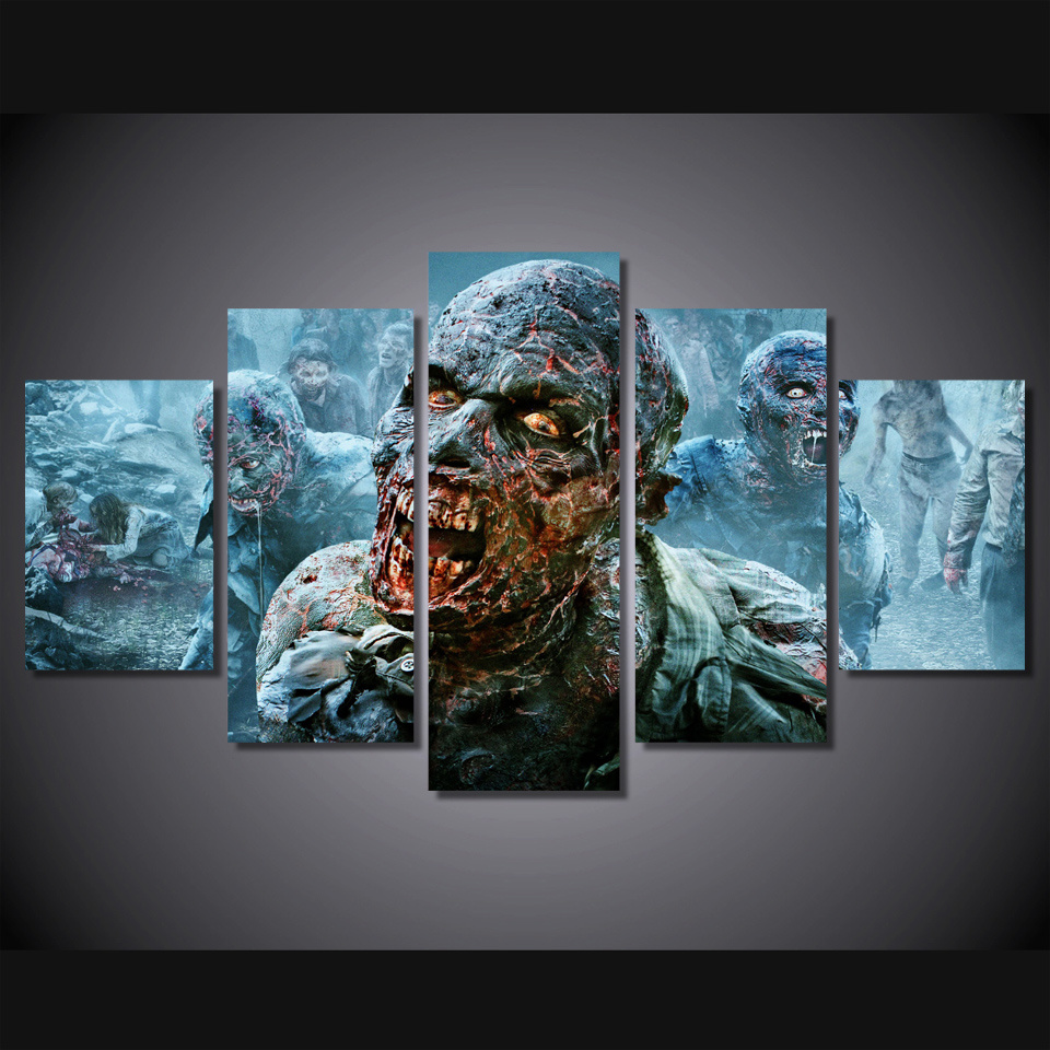HD Printed The Walking Dead Zombies Painting Canvas Print Room Decor Print Poster Picture Canvas Mc-026