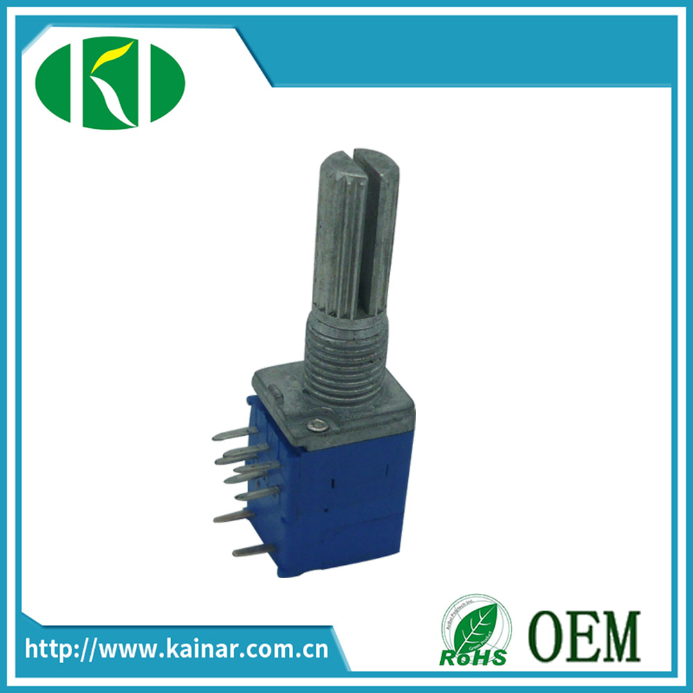 9mm Rotary Potentiometer Stereo with Switch B103 Potentiometer Wh9011ak-2