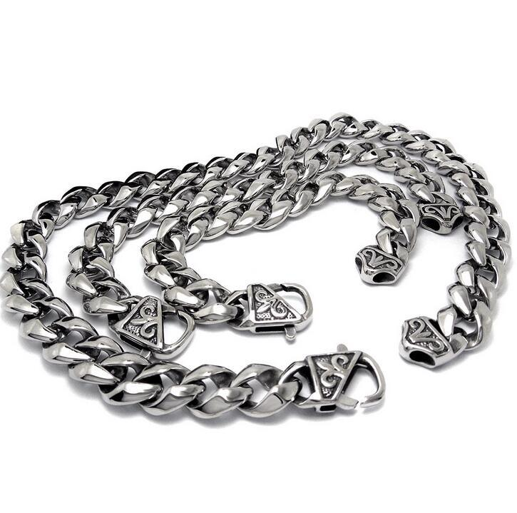 Classic Punk Men Link Bracelets 316L Stainless Steel Jewelry Distortion Free