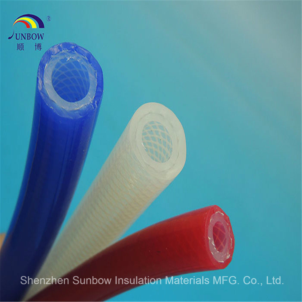 Silicone Braided Reinforced Tubing Rubber Braided Reinforced Tube