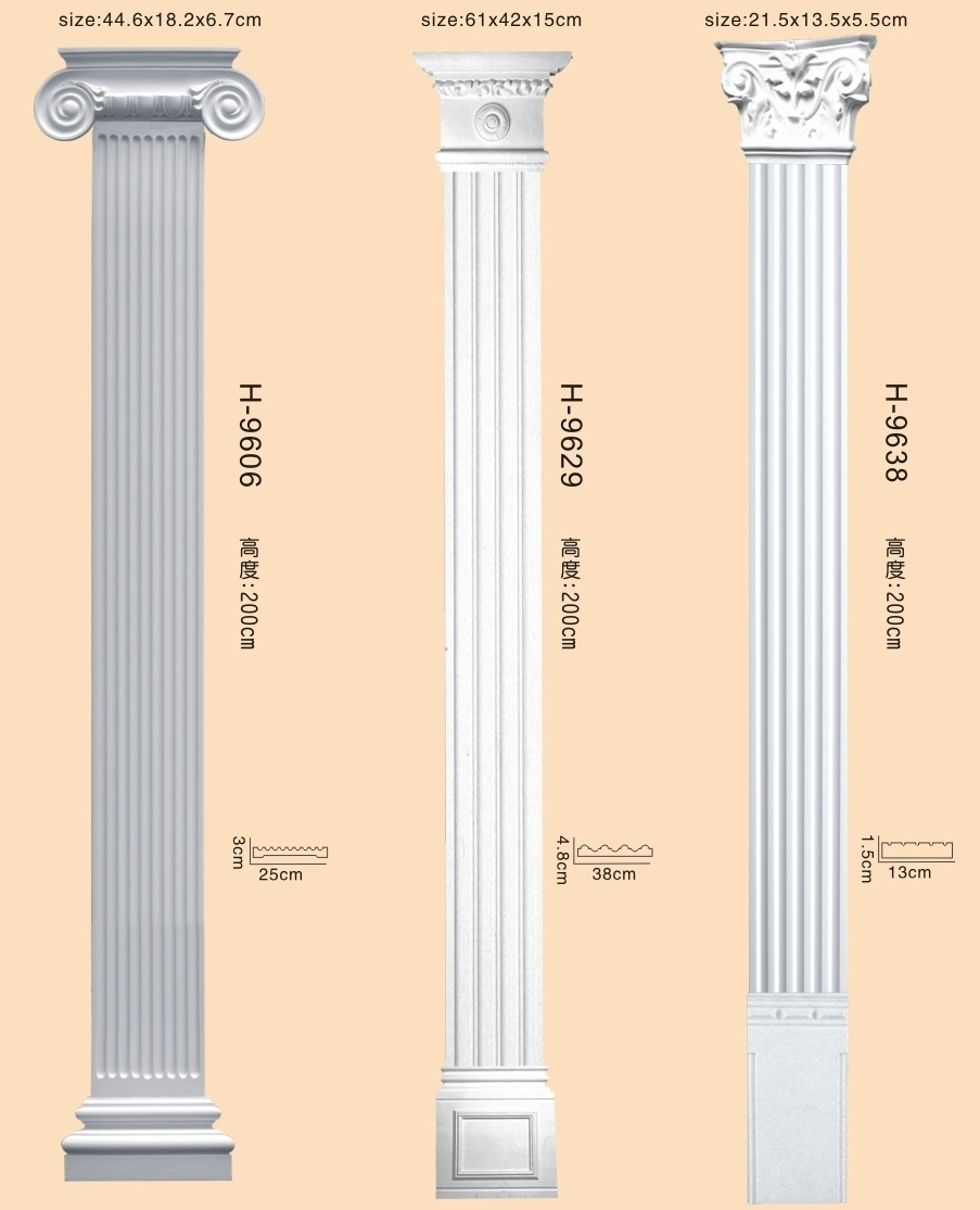PU Decorative Roman Pillars Romantic Column For Interior Design