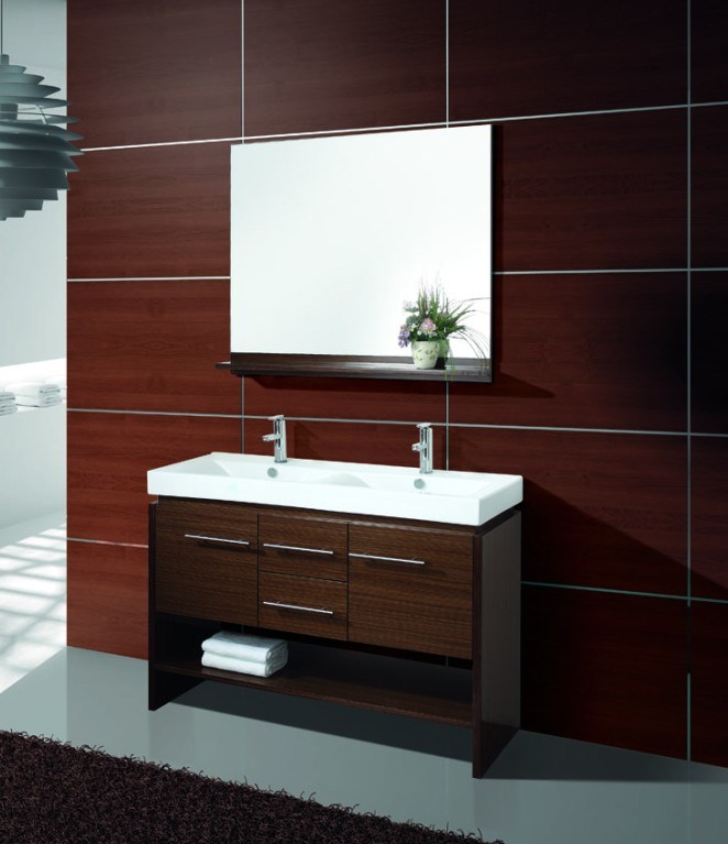 China Double Sink Bathroom Cabinet Vanity AC810001 China Bathroom Cabinet