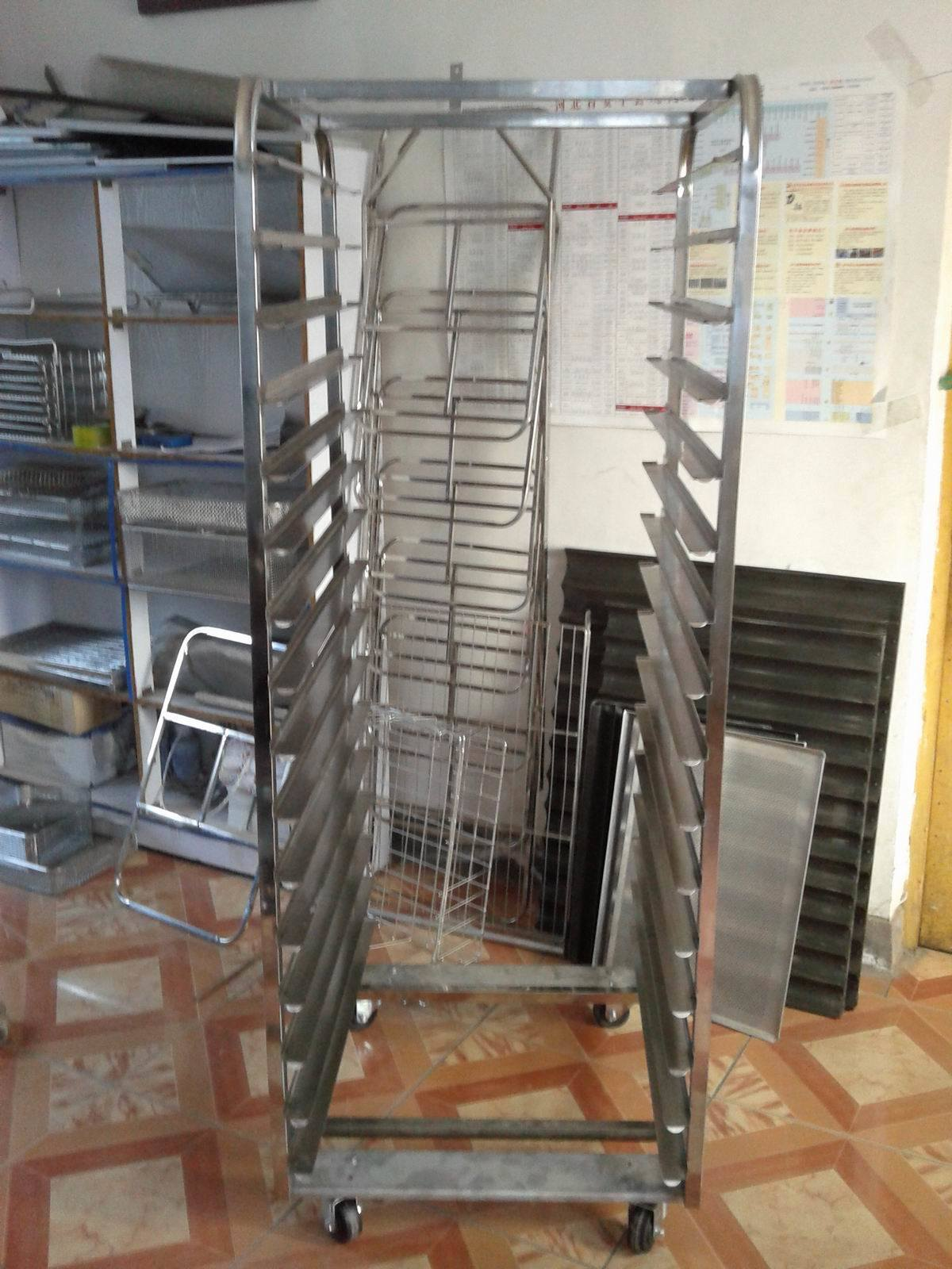 Cooling Rack Trolley for Bakery
