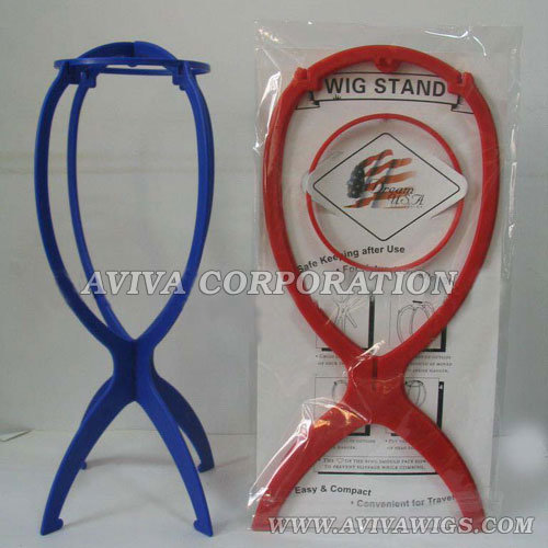 Folding Plastic Wig Stand