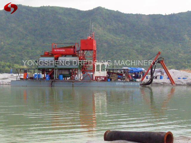Iron Jet Suction Dredger From River
