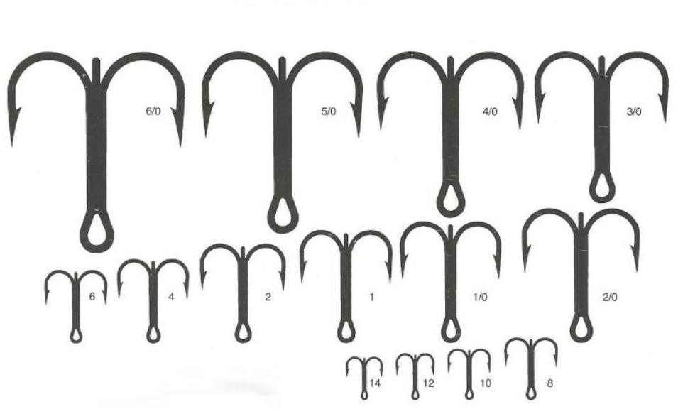 Treble fishing hooks driverlayer search engine for Fishing hook size chart actual size