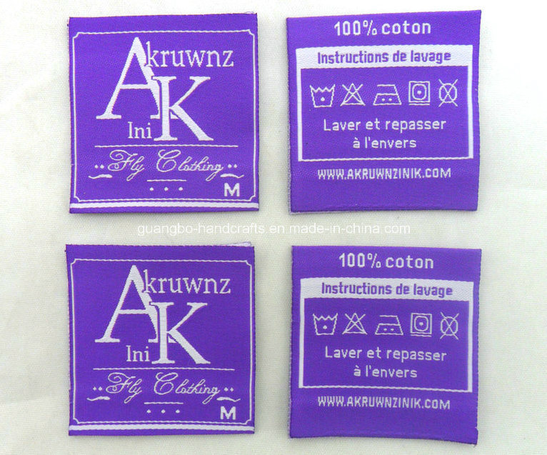 Laser Cut Custom Clothing Garment Private Woven Label